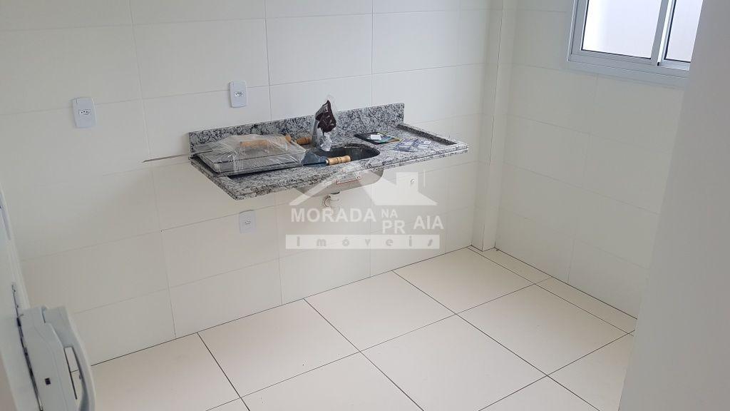 Cozinha do apartamento com 1 dormitórios em CANTO DO FORTE - PRAIA GRANDE