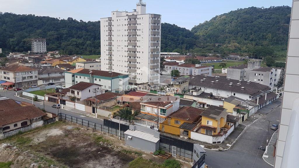 Vista da suíte do apartamento com 1 dormitórios em CANTO DO FORTE - PRAIA GRANDE