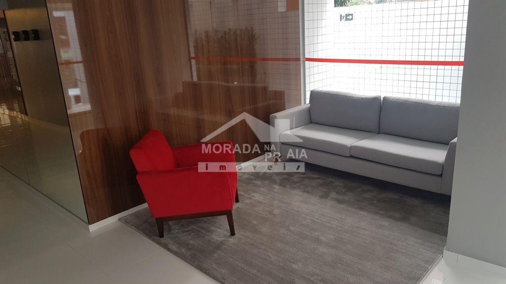 Hall de entrada do apartamento com 1 dormitórios em CANTO DO FORTE - PRAIA GRANDE