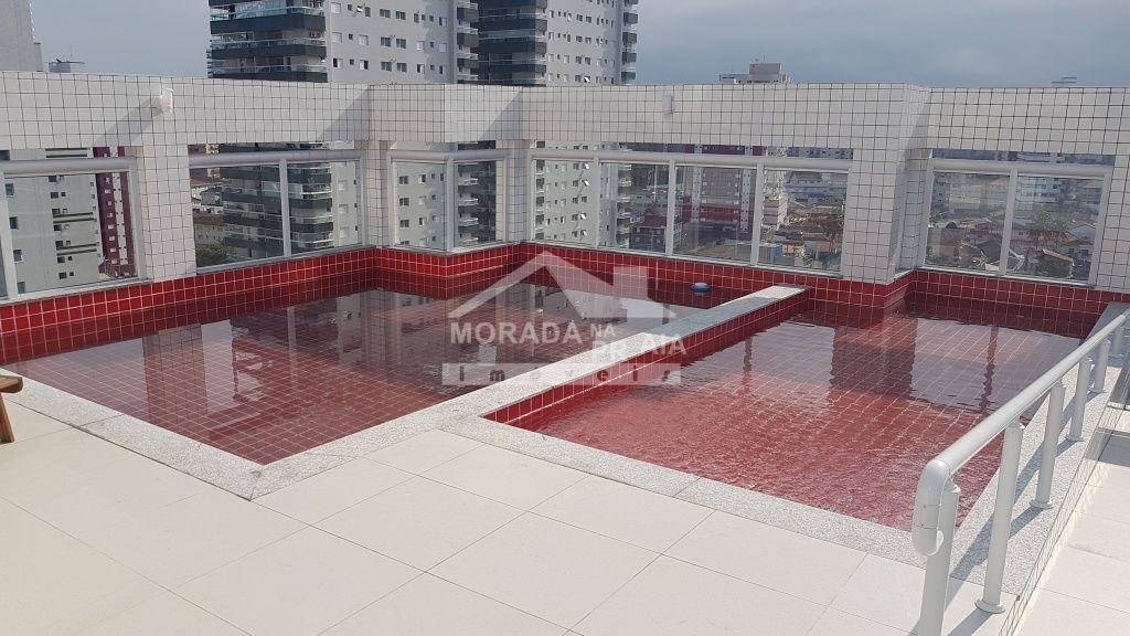 Piscina do apartamento com 1 dormitórios em CANTO DO FORTE - PRAIA GRANDE