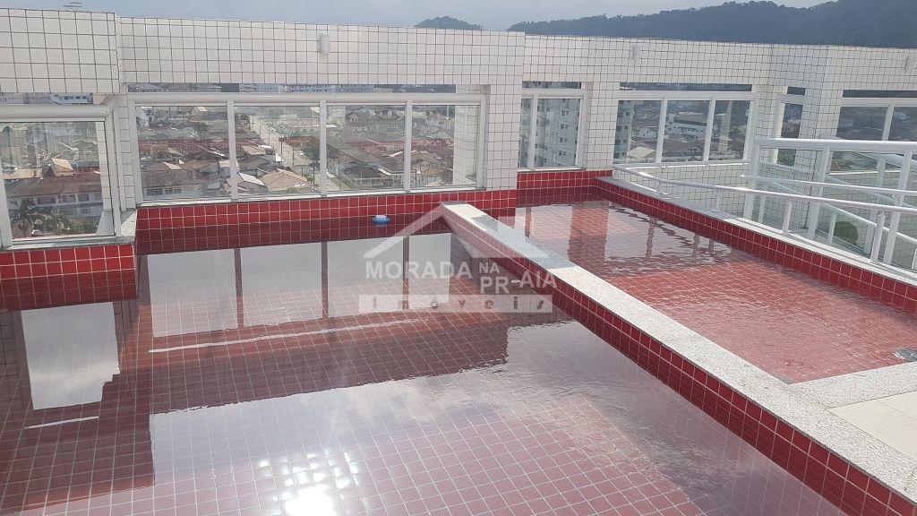Piscina ang 02 do apartamento com 1 dormitórios em CANTO DO FORTE - PRAIA GRANDE