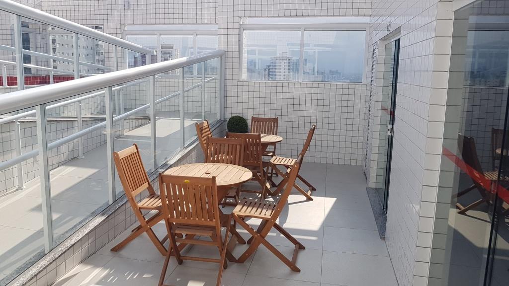 Área da piscina do apartamento com 1 dormitórios em CANTO DO FORTE - PRAIA GRANDE