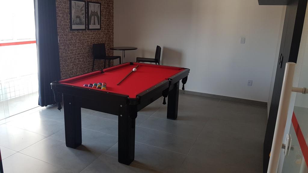 Salão de jogos do apartamento com 1 dormitórios em CANTO DO FORTE - PRAIA GRANDE
