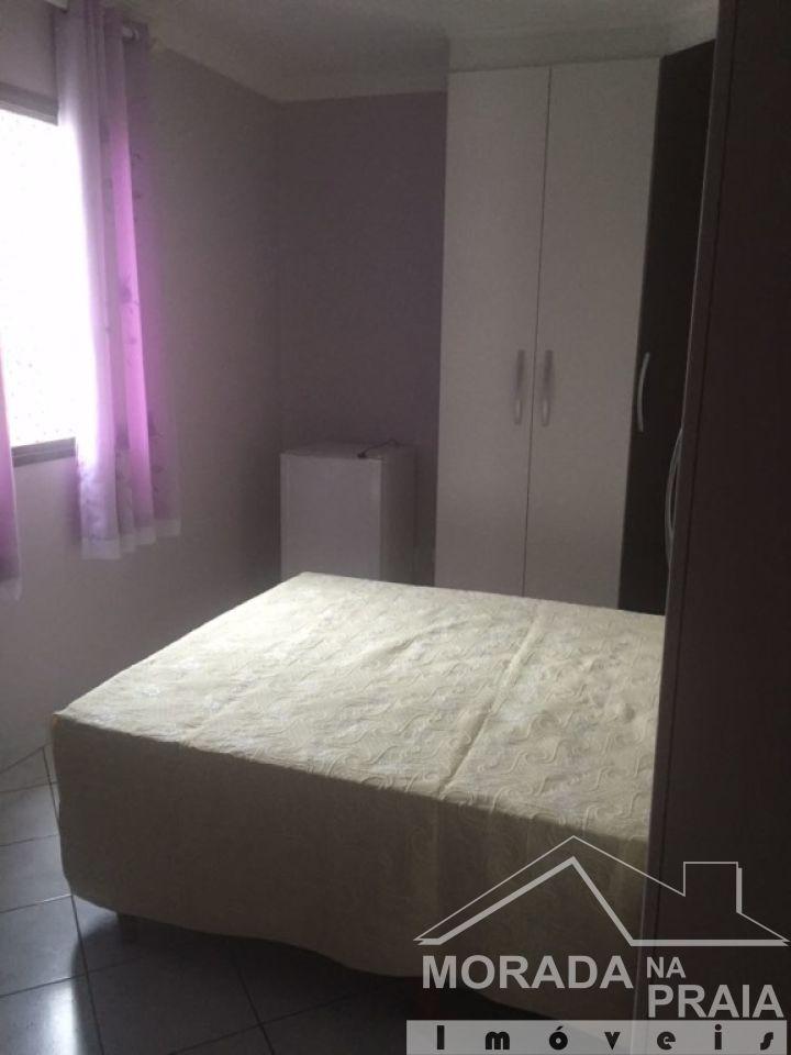 Dormitório do apartamento com 1 dormitórios em CANTO DO FORTE - PRAIA GRANDE