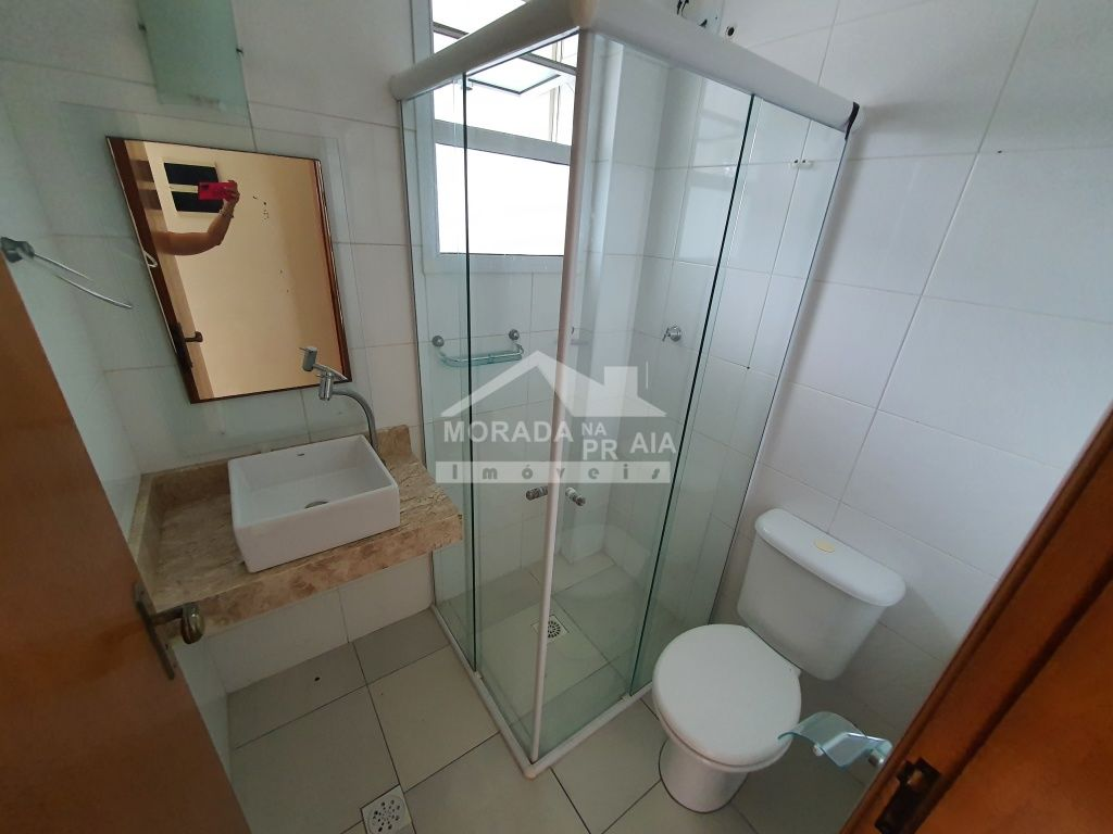 Fachada do apartamento com 2 dormitórios em CANTO DO FORTE - PRAIA GRANDE