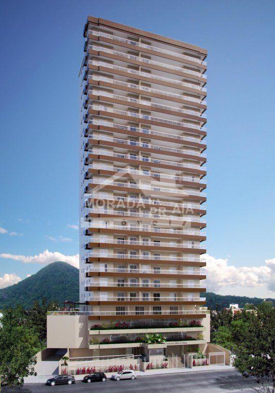 Fachada do apartamento com 2 dormitórios em Vila Tupi - Praia Grande