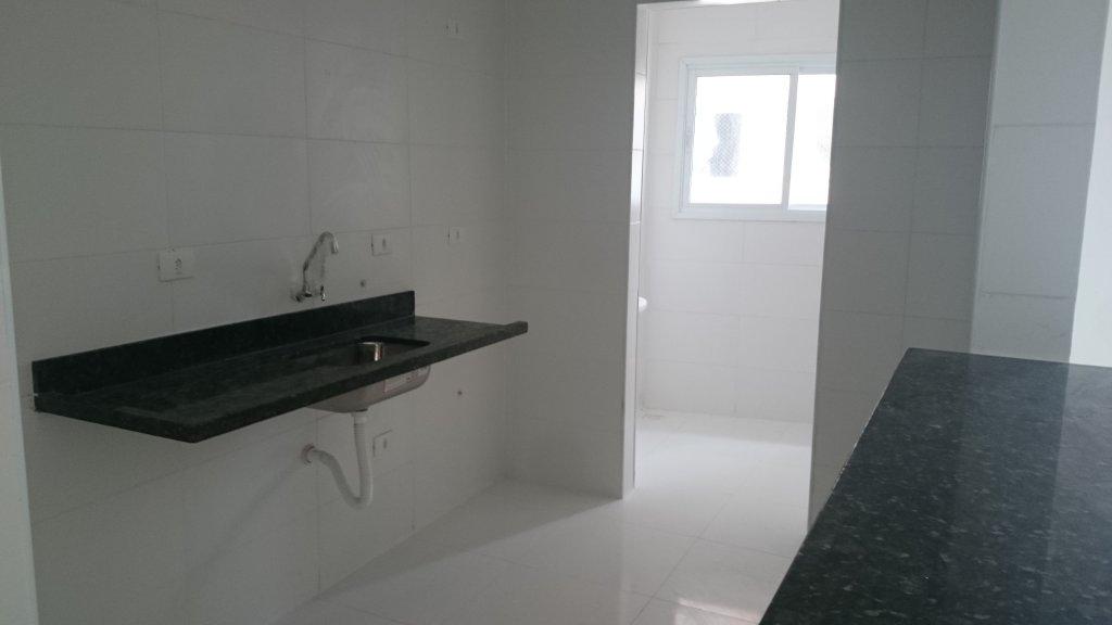 Cozinha do apartamento com 1 dormitórios em AVIAÇÃO - PRAIA GRANDE