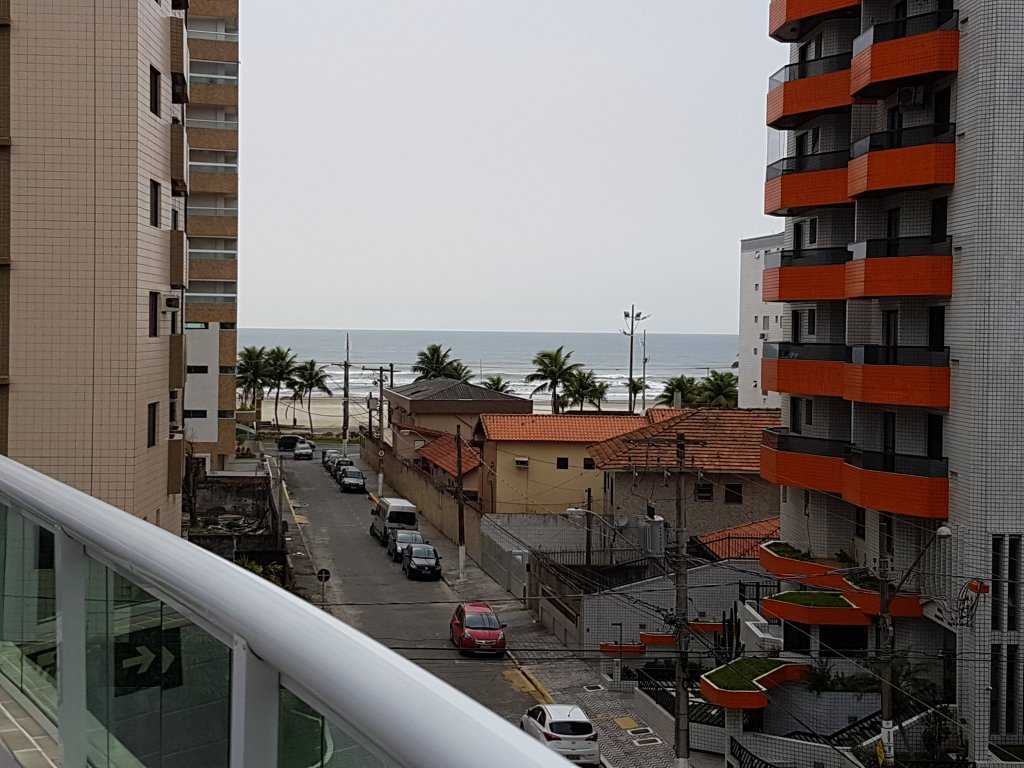 Vista da piscina do apartamento com 1 dormitórios em AVIAÇÃO - PRAIA GRANDE