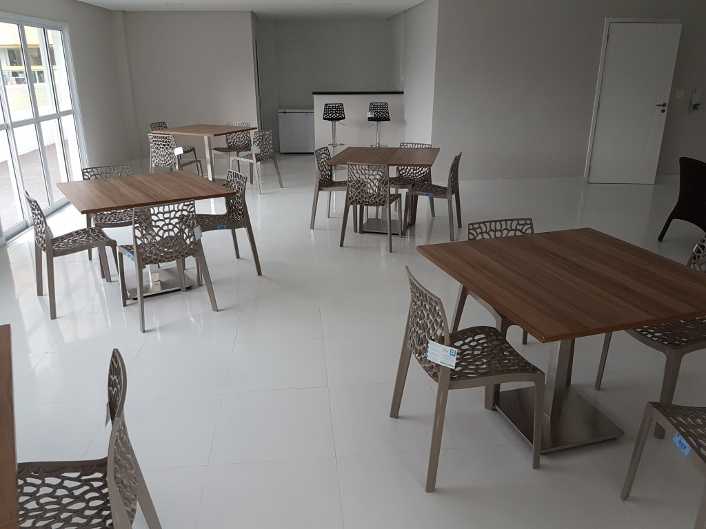 Salão de festas do apartamento com 1 dormitórios em AVIAÇÃO - PRAIA GRANDE
