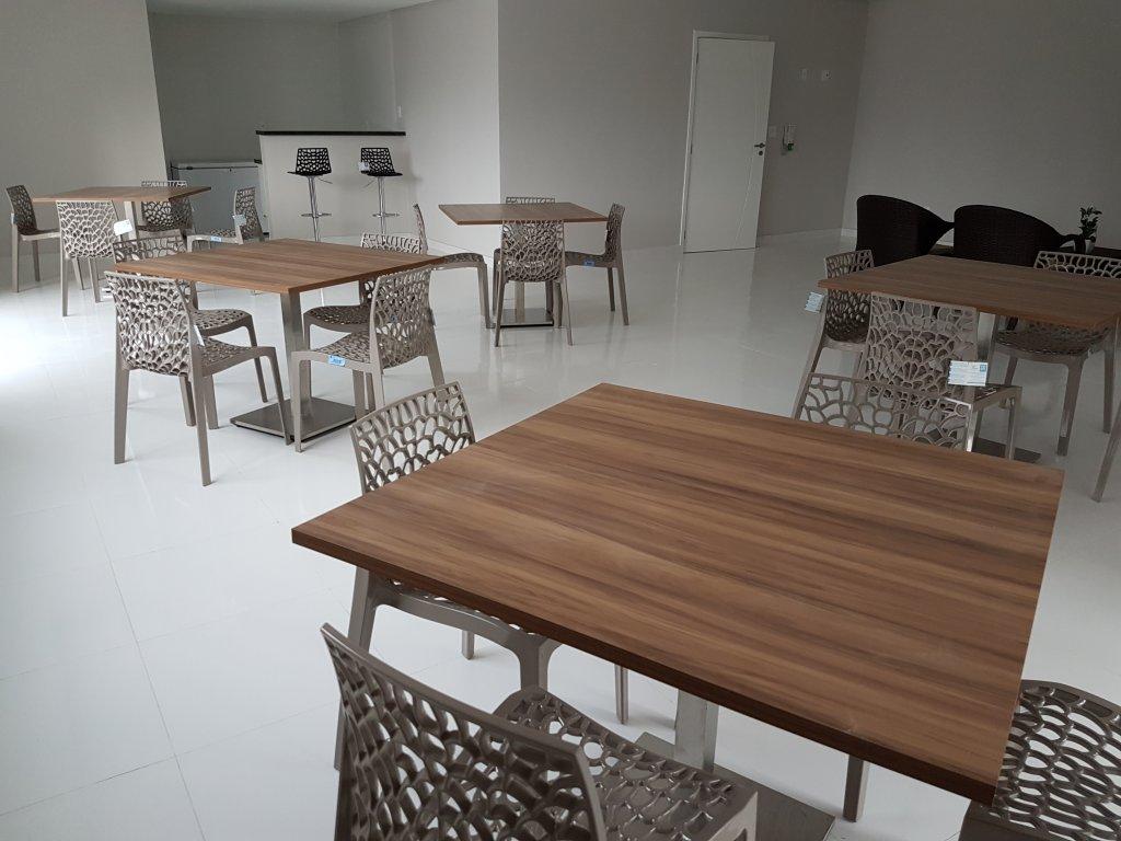 Salão de festas ang 02 do apartamento com 1 dormitórios em AVIAÇÃO - PRAIA GRANDE