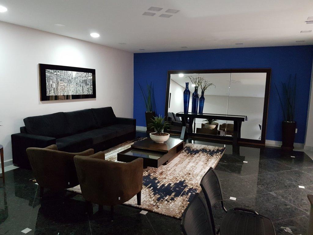 Hall de entrada do apartamento com 1 dormitórios em AVIAÇÃO - PRAIA GRANDE