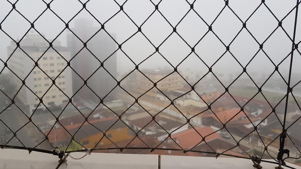 Vista da suíte do cobertura com 2 dormitórios em MIRIM - PRAIA GRANDE