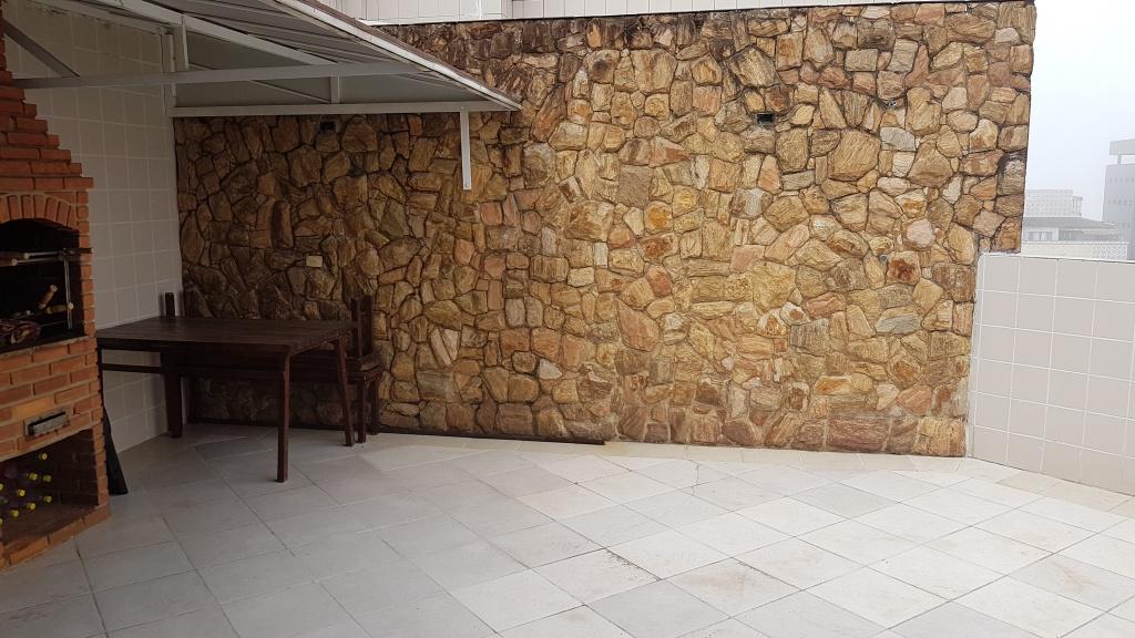 Churrasqueira e pia ang 03 do cobertura com 2 dormitórios em MIRIM - PRAIA GRANDE