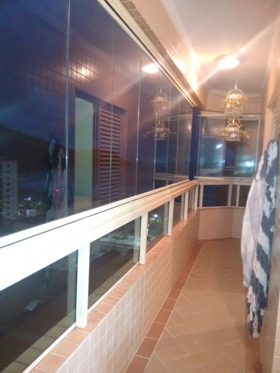 Terraço do apartamento com 2 dormitórios em CANTO DO FORTE - PRAIA GRANDE
