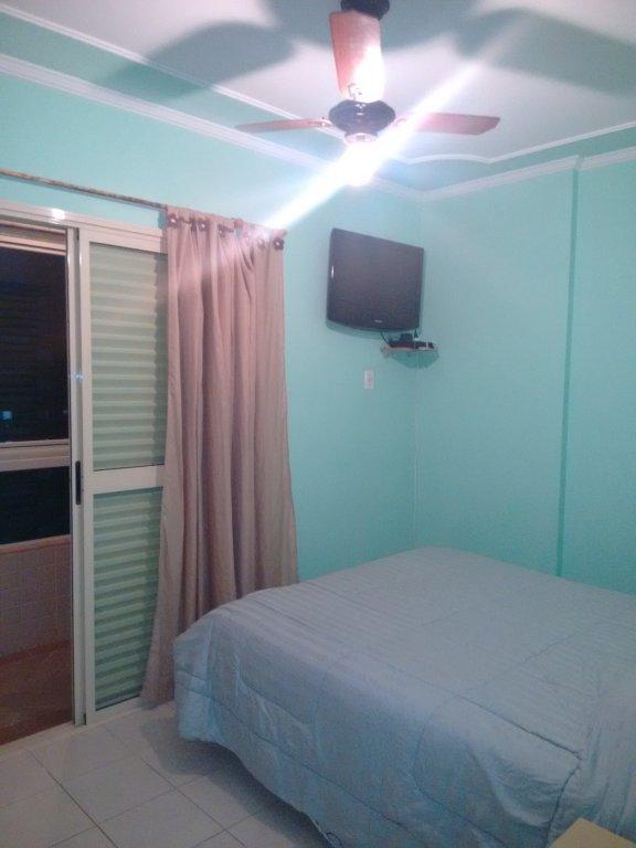 Suíte ang 1 do apartamento com 2 dormitórios em CANTO DO FORTE - PRAIA GRANDE