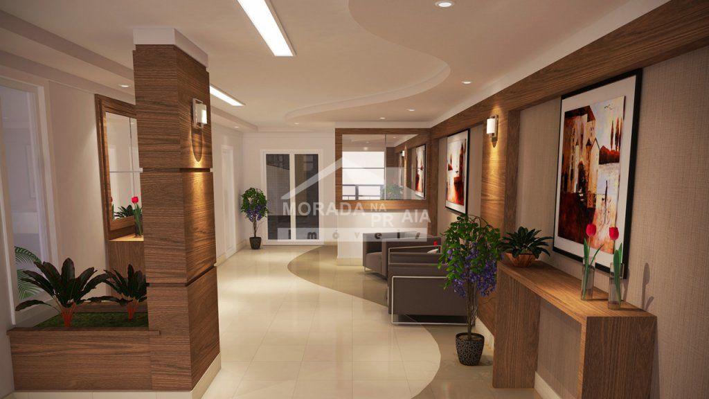 hall de entradal do apartamento com 2 dormitórios em AVIAÇÃO - PRAIA GRANDE