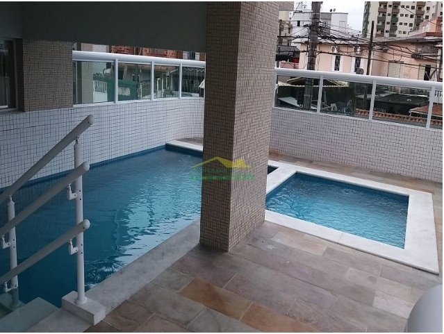 Piscina do apartamento com 2 dormitórios em OCIAN - PRAIA GRANDE