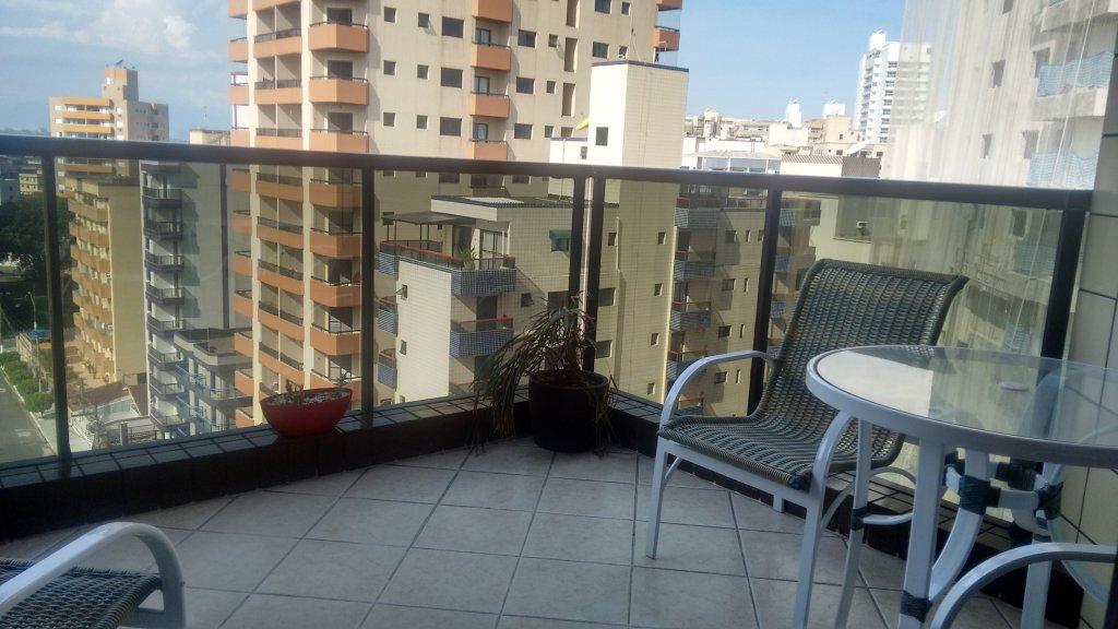 Terraço do apartamento com 2 dormitórios em TUPI - PRAIA GRANDE