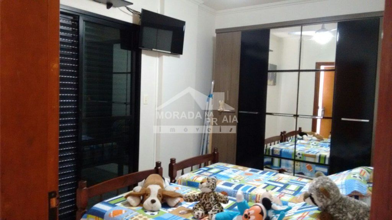 SUÍTE do apartamento com 2 dormitórios em Vila Guilhermina - Praia Grande