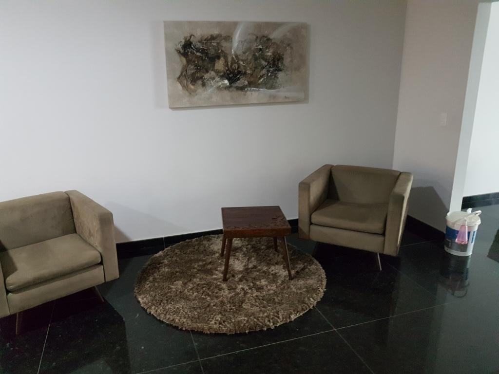 Hall de entrada ang 02 do cobertura com 4 dormitórios em CANTO DO FORTE - PRAIA GRANDE