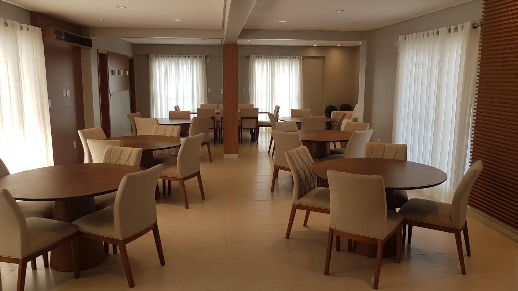 Salão de festas do apartamento com 1 dormitórios em Canto do Forte - Praia Grande