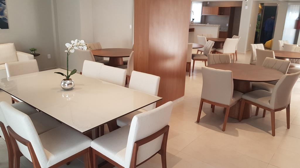 Salão de festas ang 02 do apartamento com 1 dormitórios em Canto do Forte - Praia Grande