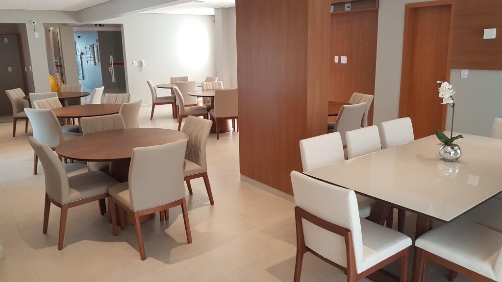 Salão de festas ang 03 do apartamento com 1 dormitórios em Canto do Forte - Praia Grande