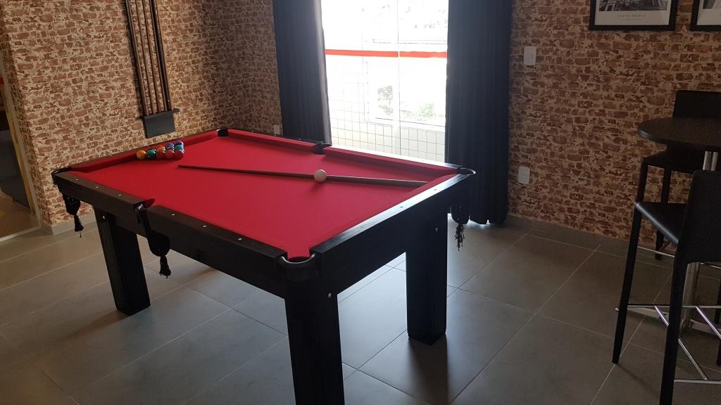 Salão de jogos ang 02 do apartamento com 1 dormitórios em Canto do Forte - Praia Grande