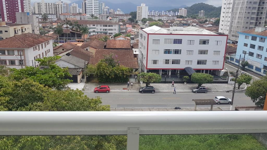 Vista da sala do apartamento com 1 dormitórios em Canto do Forte - Praia Grande
