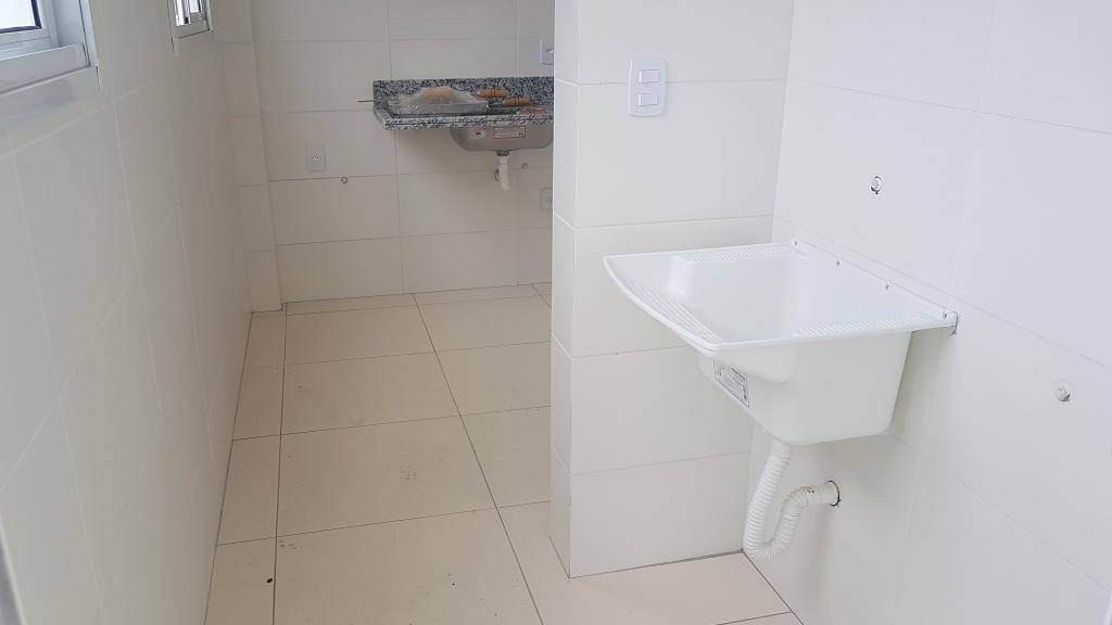 Área de serviço ang 02 do apartamento com 1 dormitórios em Canto do Forte - Praia Grande