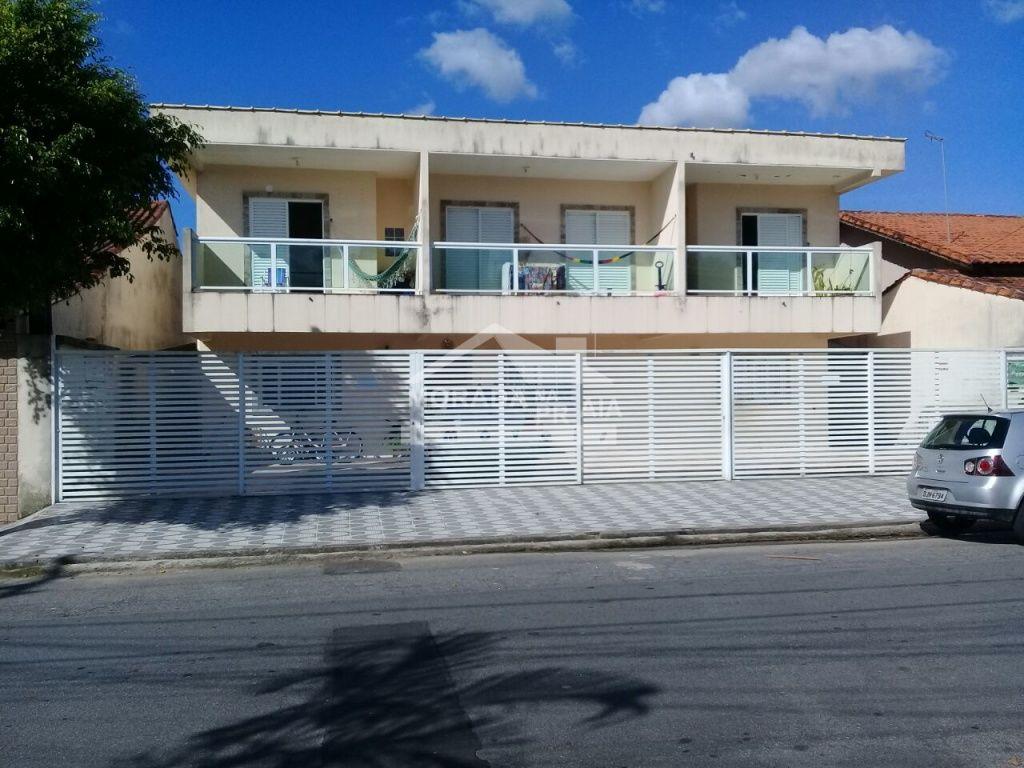 Fachada do condomínio fechado com 2 dormitórios em Vila Mirim - Praia Grande