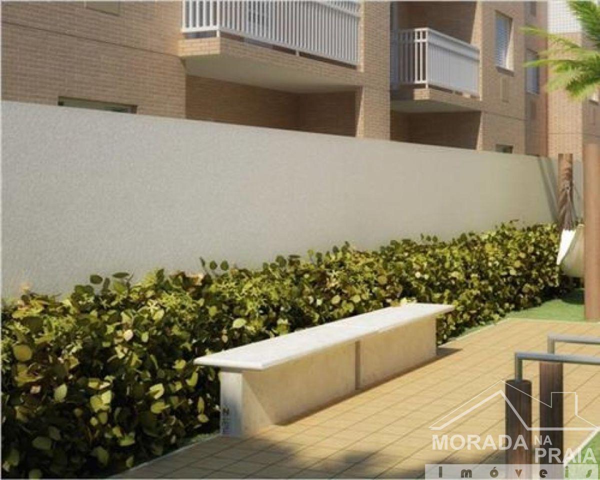 Jardim do apartamento com 2 dormitórios em OCIAN - PRAIA GRANDE