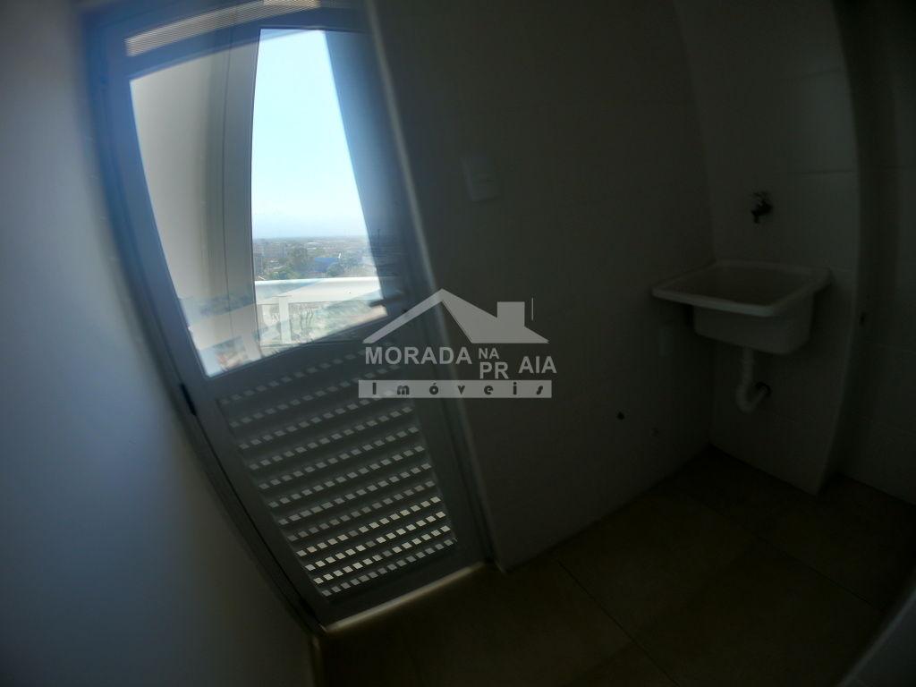 Área de convivencia do apartamento com 2 dormitórios em GUILHERMINA - PRAIA GRANDE
