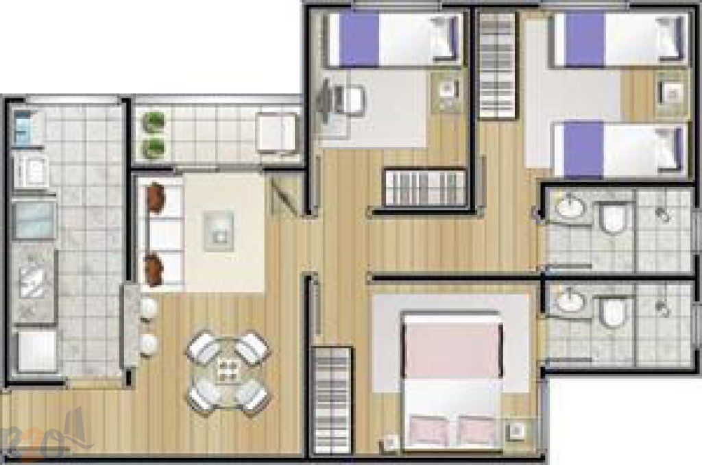 Apartamento de 3 dormitórios à venda em Parque Novo Mundo, São Paulo - SP