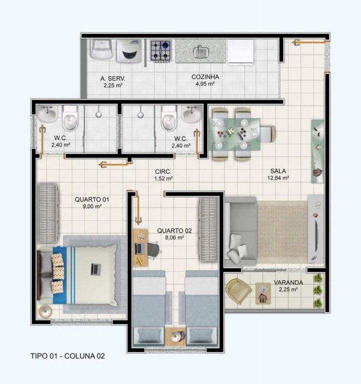 Apartamento no Condomínio Park View